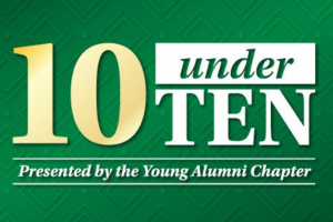UNC Charlotte 10 under Ten awards graphic